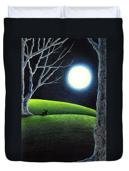 Mystery's Silence And Wonder's Patience Duvet Cover