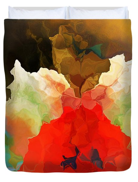 Duvet Cover featuring the digital art Mystic Bloom by David Lane