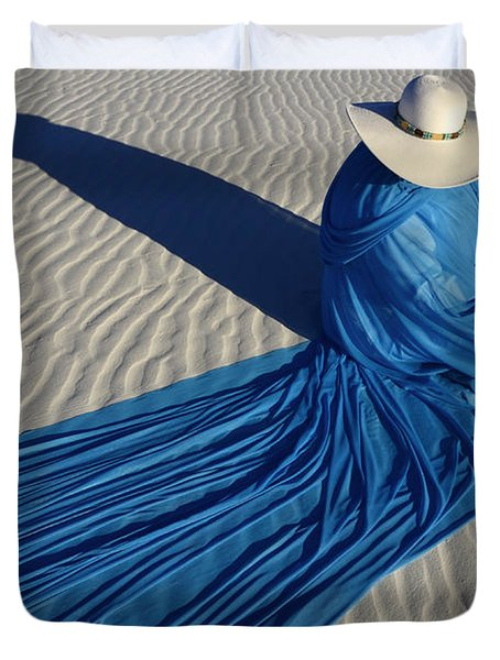 Mystic Blue 1 Duvet Cover by Bob Christopher