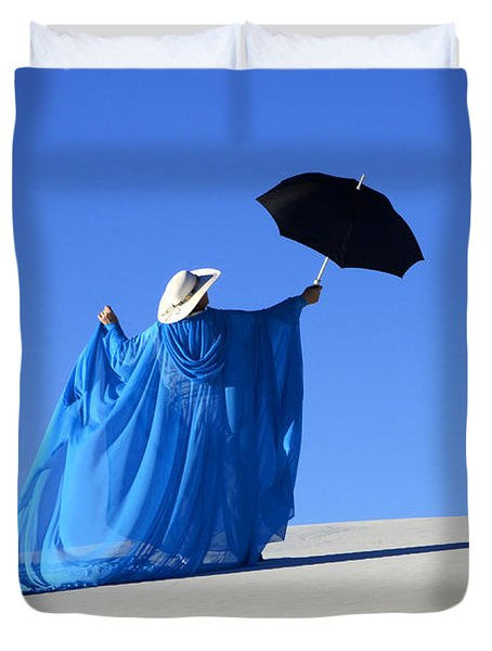 Mystic Blue 2 Duvet Cover by Bob Christopher
