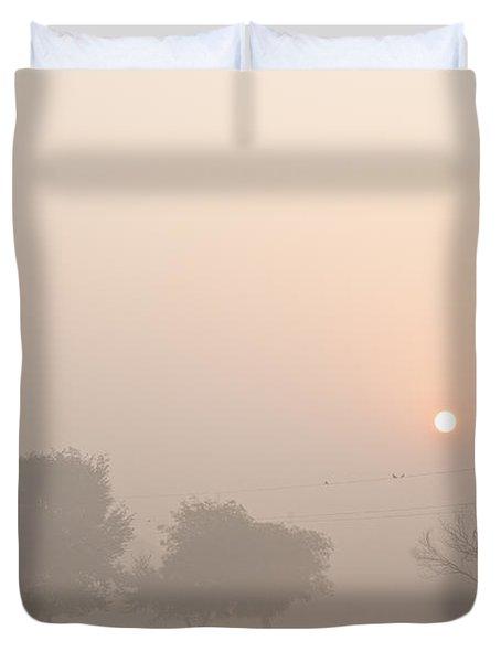 Duvet Cover featuring the photograph Mystic Landscape by Lana Enderle
