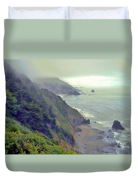 Duvet Cover featuring the photograph Mystic by Marilyn Diaz