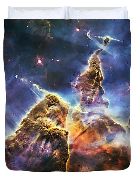 Mystic Mountain Duvet Cover by Adam Romanowicz