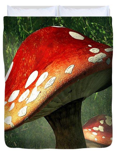 Mystic Mushroom Duvet Cover
