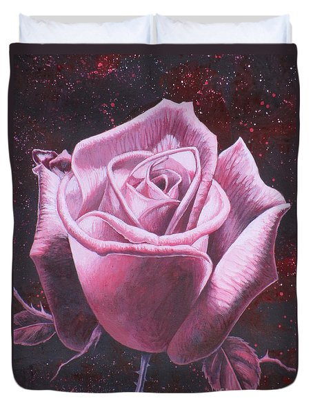 Mystic Rose Duvet Cover by Vivien Rhyan