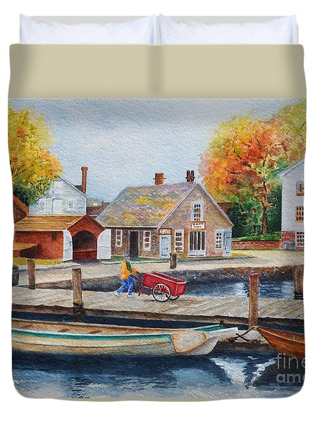 Mystic Seaport Duvet Cover