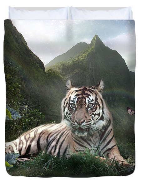 Mystic Tigress Duvet Cover by Alixandra Mullins