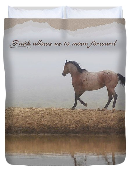 Mystical Beauty Inspirational Duvet Cover