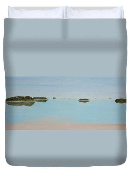 Mystical Islands Duvet Cover by Tim Mullaney