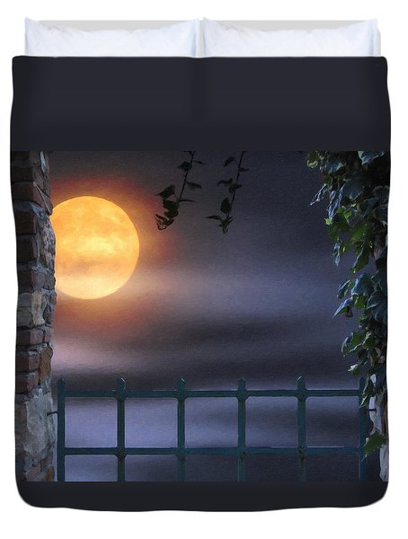 Mystical Moon Duvet Cover