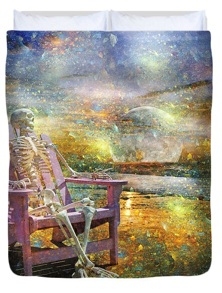 Mystical Sam On Topsail Duvet Cover