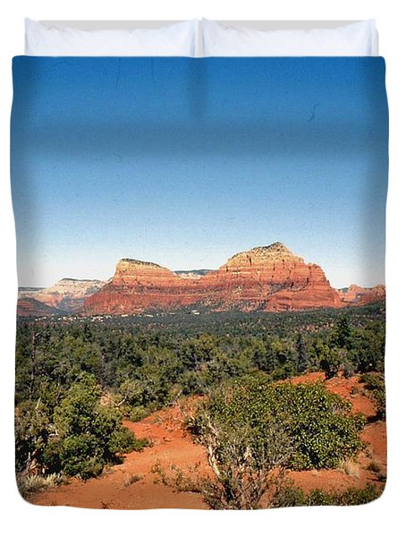 Duvet Cover featuring the photograph Mystical Sedona by Gary Wonning