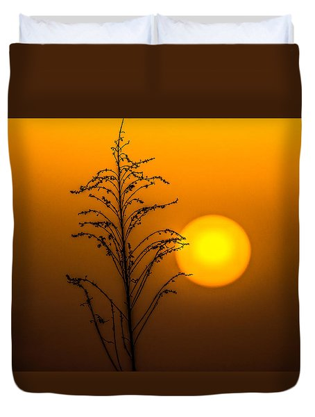 Mystical Sunset Duvet Cover by Shelby  Young