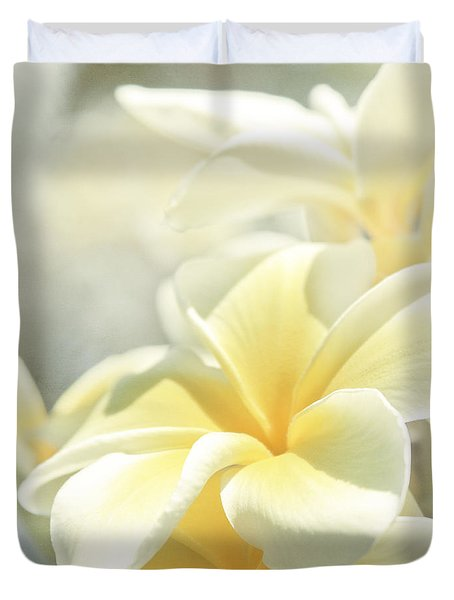 Duvet Cover featuring the photograph Na Lei Pua Melia Aloha E Ko Lele by Sharon Mau