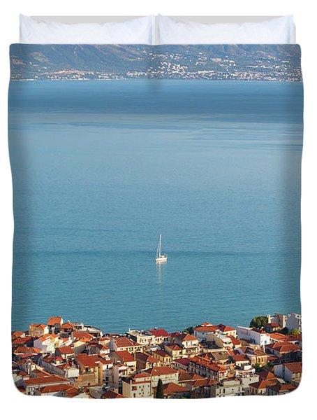 Nafpaktos, West Greece, Greece Duvet Cover
