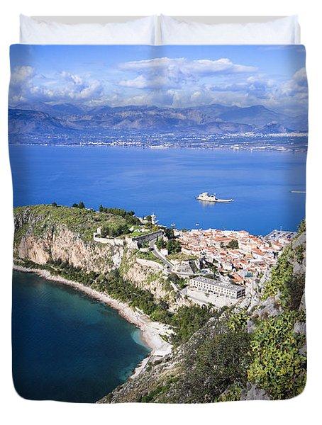 Nafplio Peninsula Duvet Cover