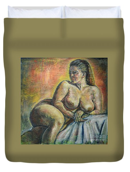Naked Paris Duvet Cover