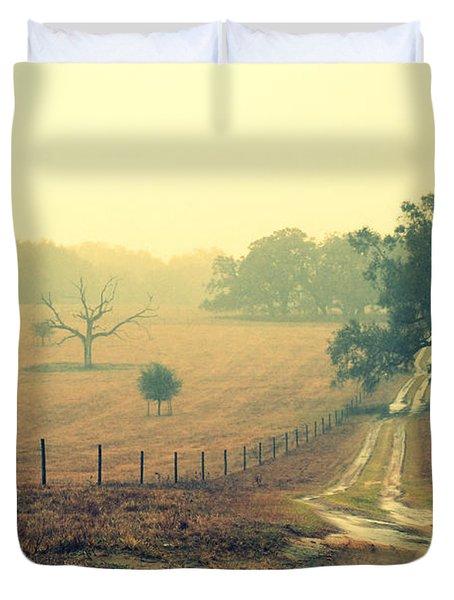 Naked Tree Farm Duvet Cover