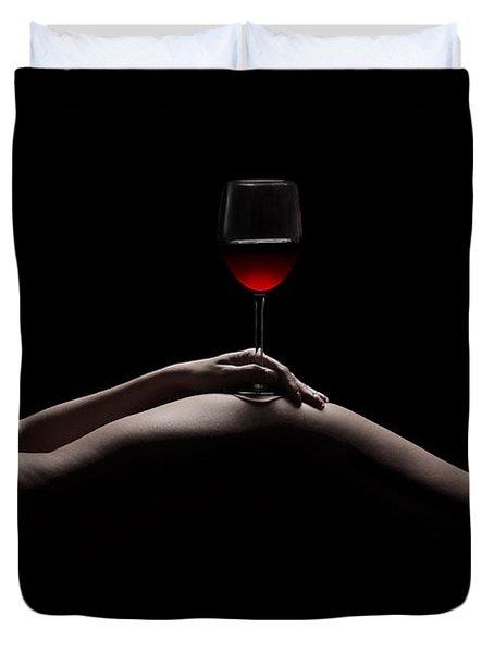 Naked Wine Duvet Cover