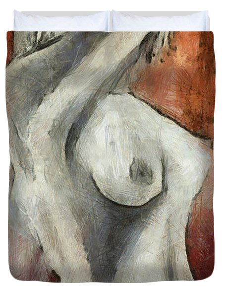 Naked Woman Duvet Cover by Michal Boubin