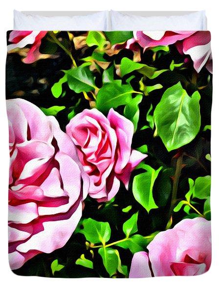 Nana's Roses Duvet Cover