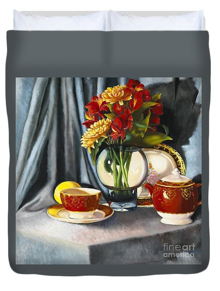 The Legacy Duvet Cover by Marlene Book