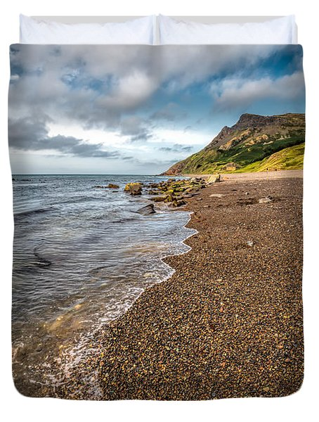 Nant Gwrtheyrn Shore Duvet Cover by Adrian Evans