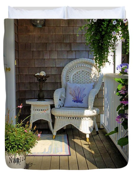 Nantucket Porch Duvet Cover