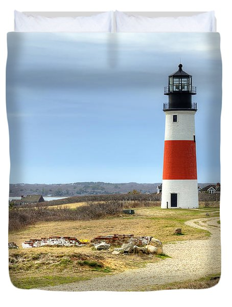 Nantucket's Sankaty Head Light Duvet Cover