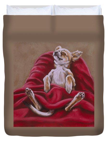 Nap Hard Duvet Cover by Barbara Keith