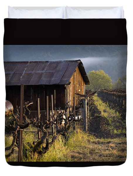Napa Morning Duvet Cover by Bill Gallagher