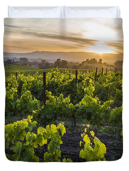 Napa Valley Sunset  Duvet Cover by John McGraw