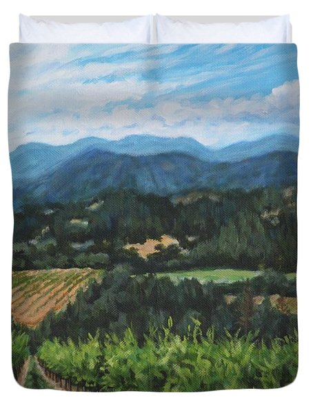 Napa Valley Vineyard Duvet Cover