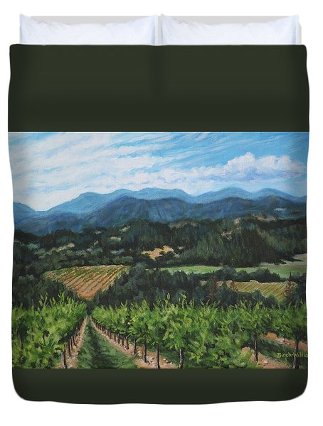 Napa Valley Vineyard Duvet Cover by Penny Birch-Williams