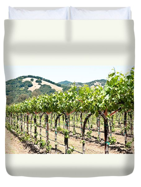 Napa Vineyard Grapes Duvet Cover