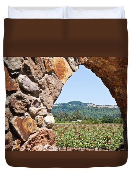 Napa Vineyard Duvet Cover