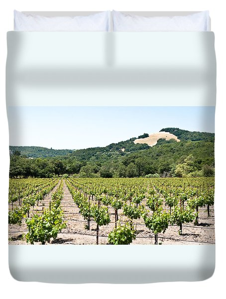Napa Vineyard With Hills Duvet Cover