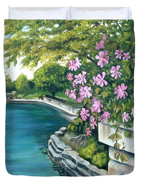 Naperville Riverwalk Duvet Cover