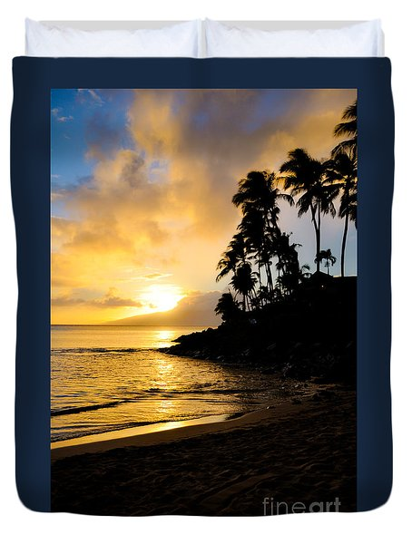 Napili Sunset Evening  Duvet Cover