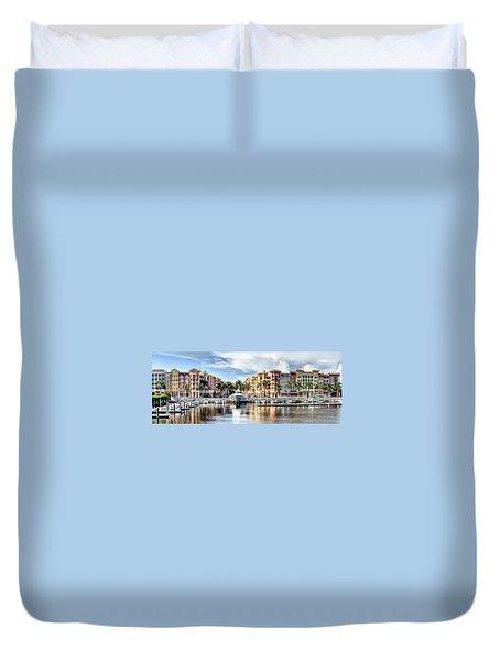 Naples Bayfront Duvet Cover