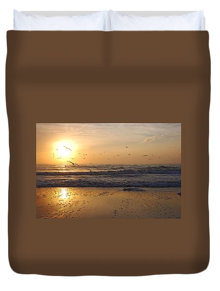 Naples Beach Duvet Cover