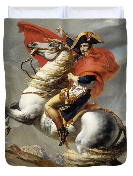 Napoleon Bonaparte On Horseback Duvet Cover
