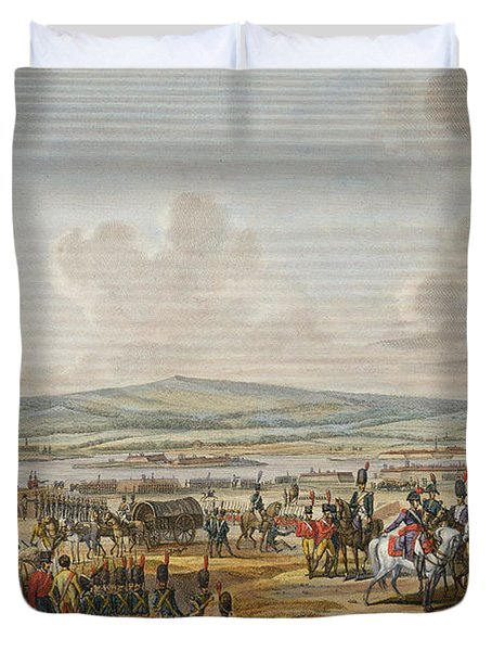 Napoleon Visiting The Siege Works Duvet Cover