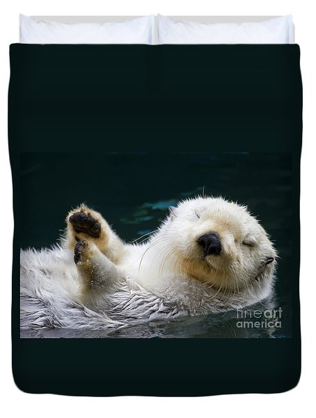 Napping On The Water Duvet Cover