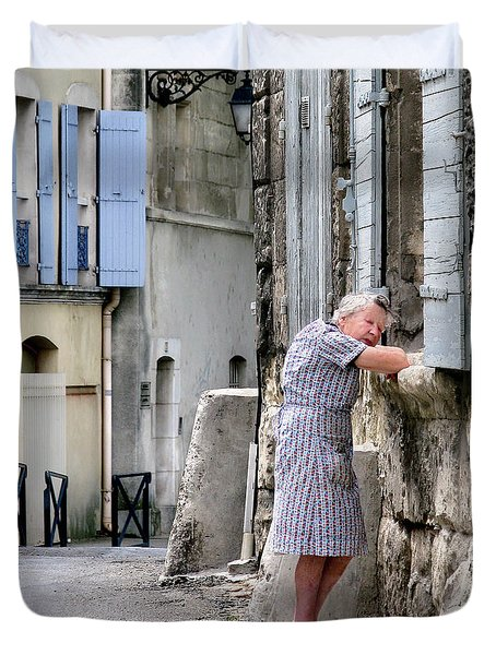 Naptime In Arles. France Duvet Cover by Jennie Breeze