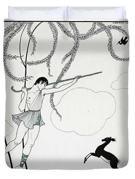 Narcisse Duvet Cover by Georges Barbier