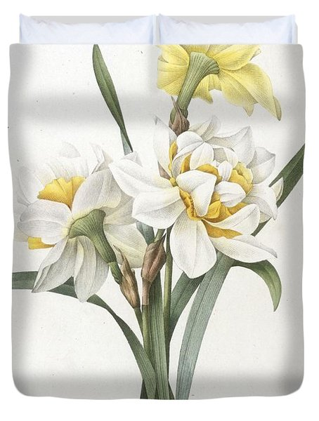 Narcissus Gouani Double Daffodil Duvet Cover