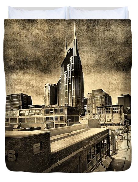 Nashville Grunge Duvet Cover by Dan Sproul