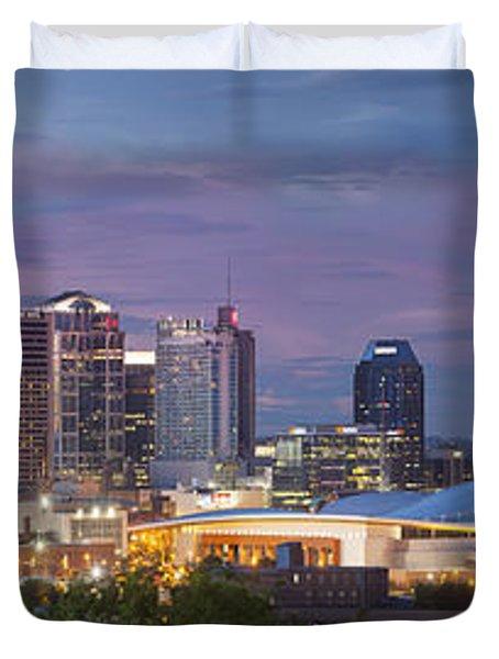 Nashville Skyline Duvet Cover by Brian Jannsen