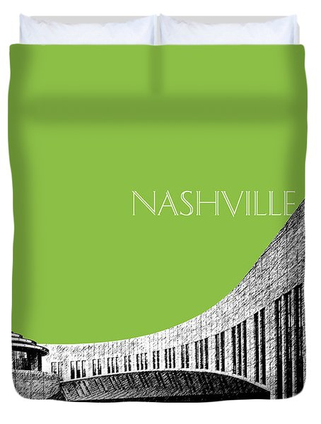 Nashville Skyline Country Music Hall Of Fame - Olive Duvet Cover